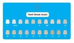 Tandenbleekset hoe te gebruiken handleiding shadeguide